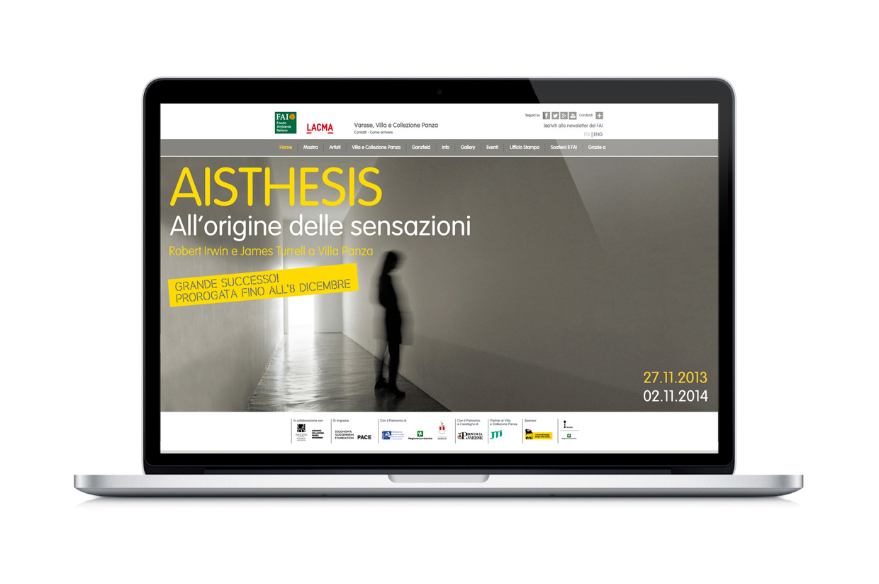 FAI - Fondo Ambiente Italiano, AISTHESIS - The origin of sensations. Exhibition, website